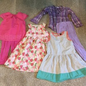 5T outfits matching sets, GYMBOREE Sonoma Tea